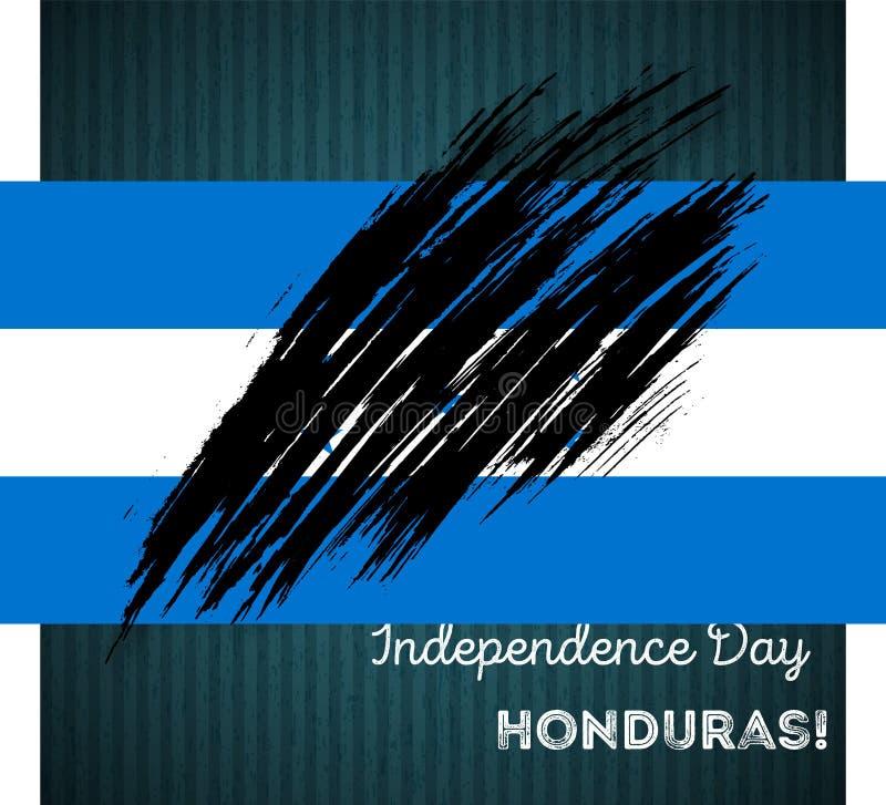 Conception patriotique de Jour de la Déclaration d'Indépendance du Honduras illustration stock