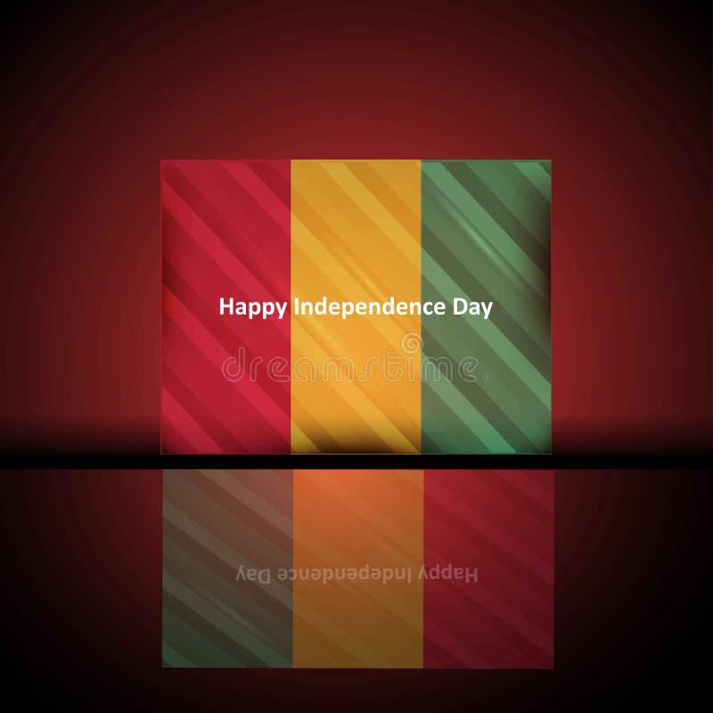 Conception patriotique de Jour de la Déclaration d'Indépendance de la Guinée Jour de la Déclaration d'Indépendance heureux illustration stock