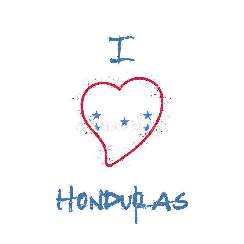 Conception patriotique de T-shirt de drapeau hondurien illustration libre de droits