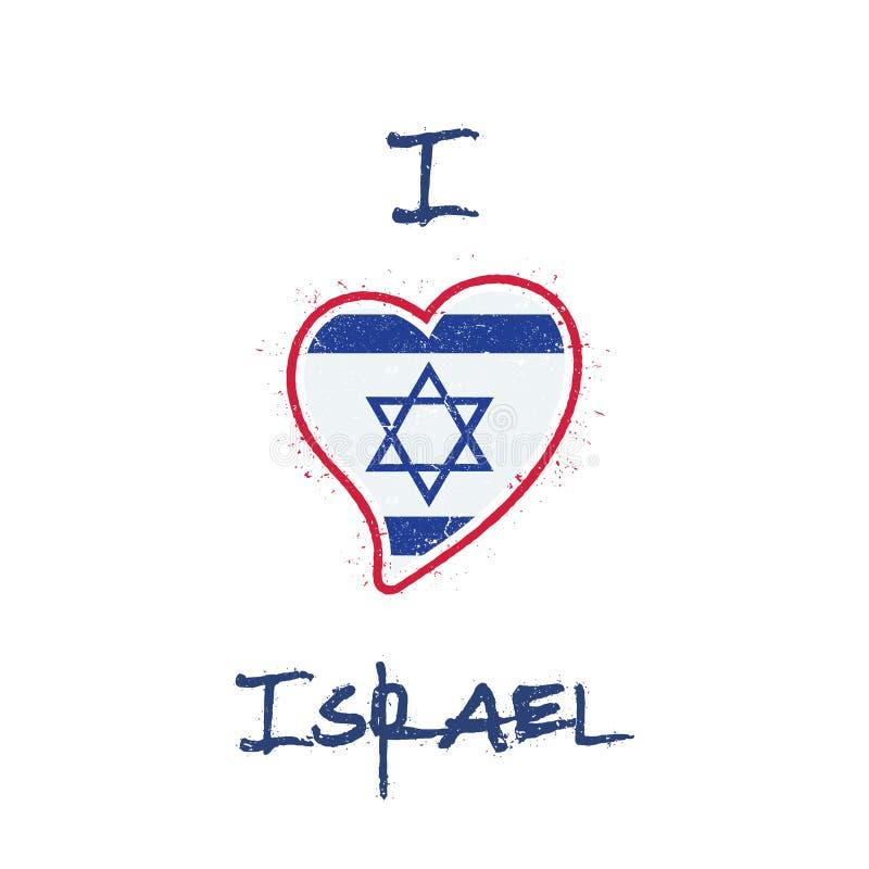 Conception patriotique de T-shirt de drapeau israélien illustration de vecteur