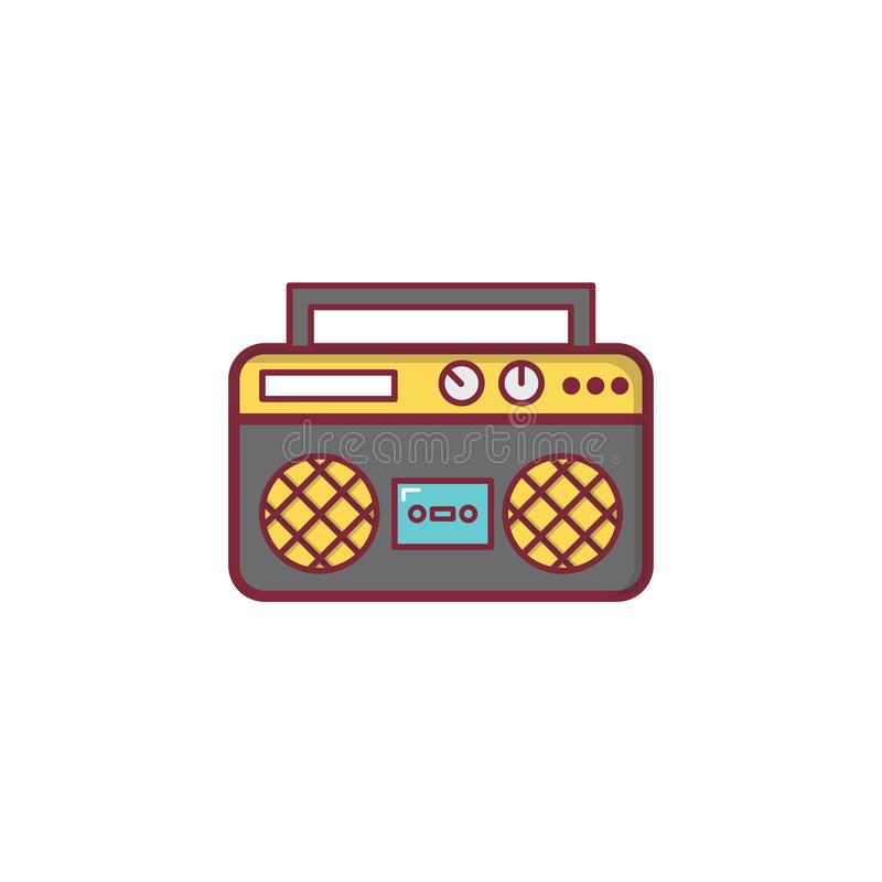 Conception plate d'élément d'illustration d'icône de musique par radio photographie stock