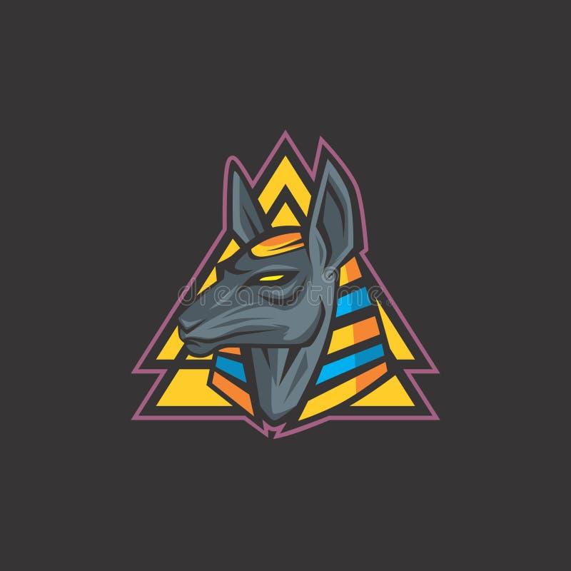 Conception plate d'Anubis illustration libre de droits