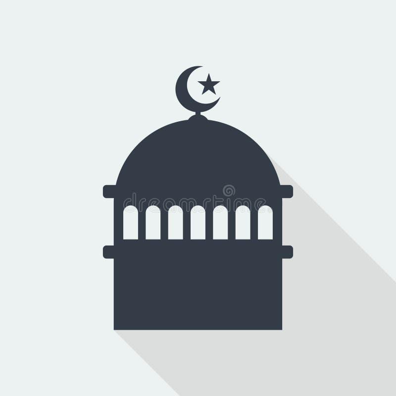 conception plate d'art musulman islamique de soulagement de mosquée, bâtiment de web design de seo photo stock