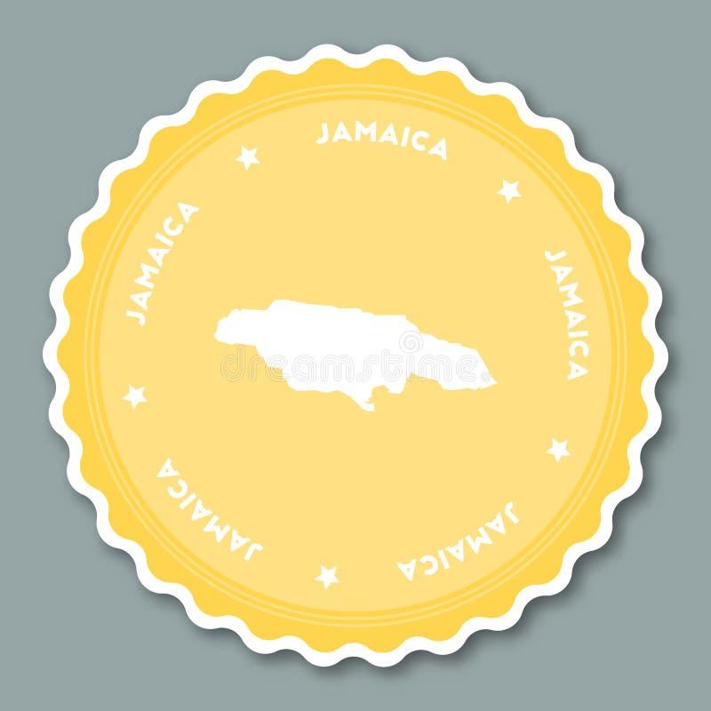 Conception plate d'autocollant de la Jamaïque illustration libre de droits
