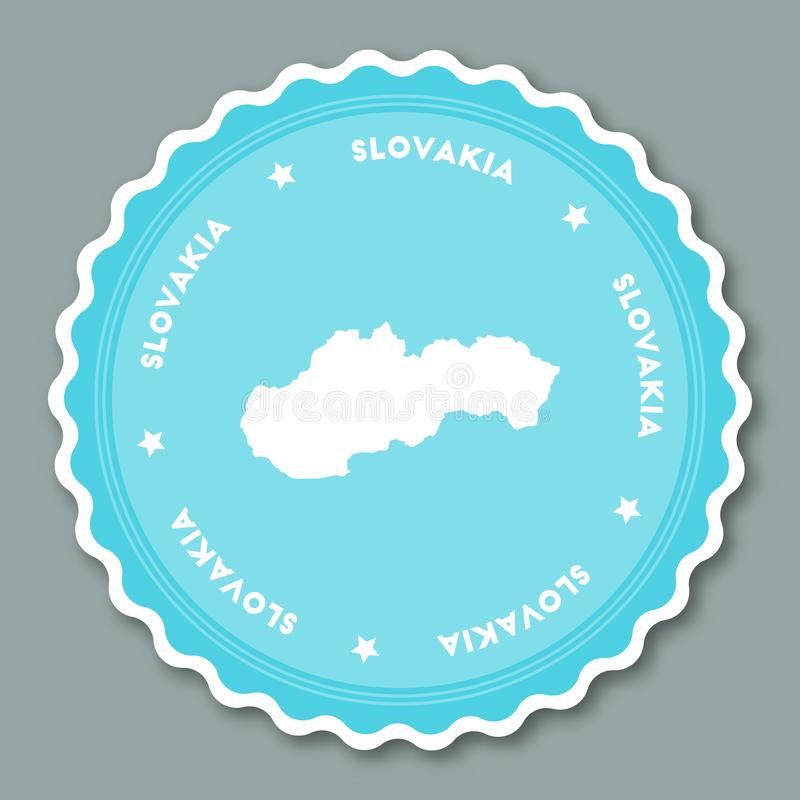 Conception plate d'autocollant de la Slovaquie illustration de vecteur