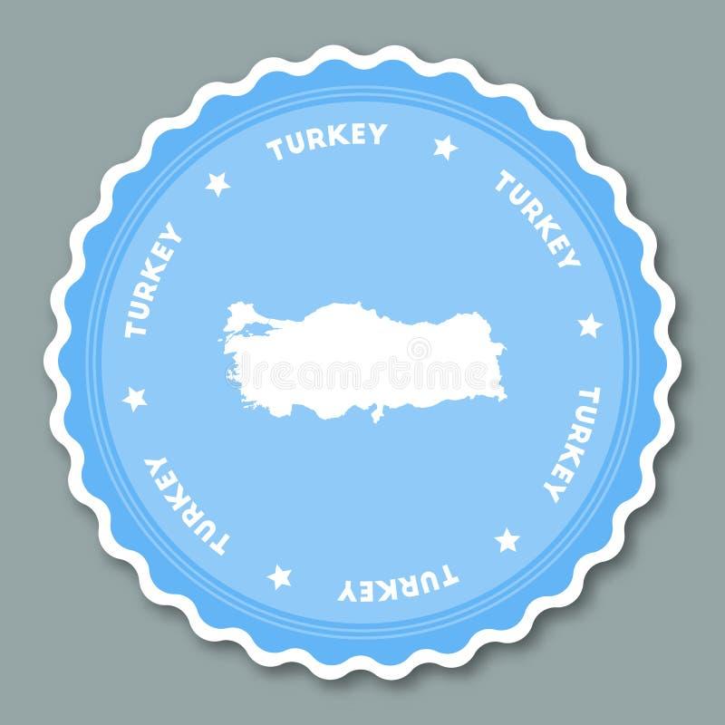 Conception plate d'autocollant de la Turquie illustration de vecteur