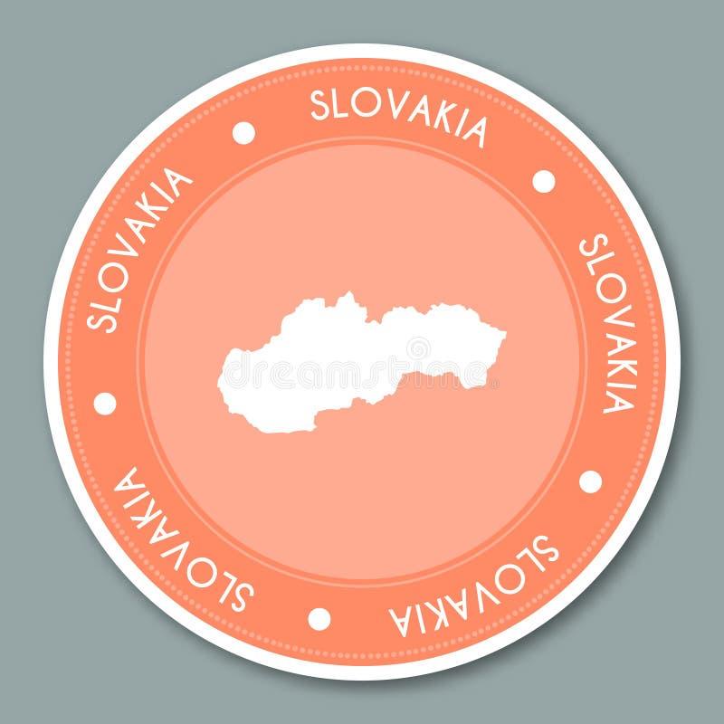 Conception plate d'autocollant de label de la Slovaquie illustration de vecteur