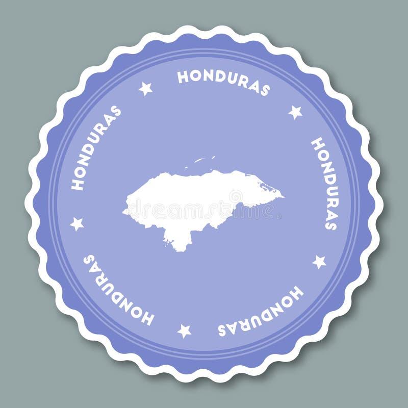 Conception plate d'autocollant du Honduras illustration stock