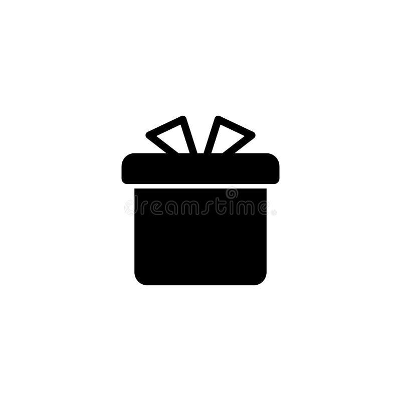Conception plate d'icône de cadeau style simple de nouvelle année d'icône de vecteur illustration stock