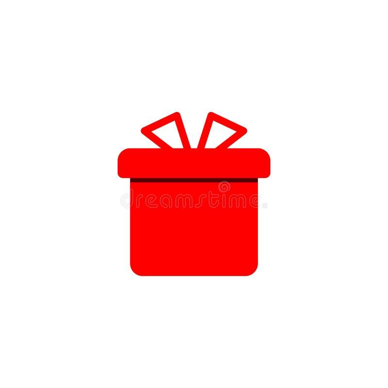 Conception plate d'icône de cadeau style simple de nouvelle année d'icône de vecteur illustration de vecteur