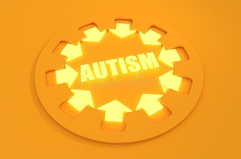 Conception plate d'icône Désordre d'autisme illustration libre de droits