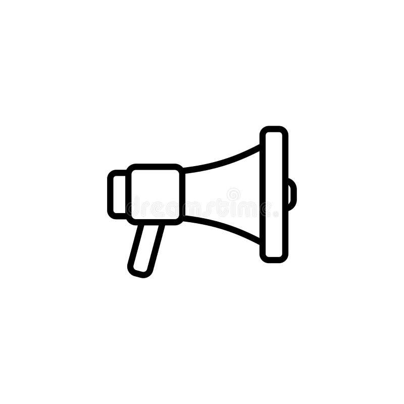 conception plate d'icône de haut-parleur illustration de vecteur