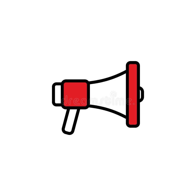 conception plate d'icône de haut-parleur illustration libre de droits