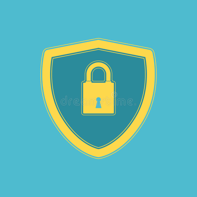 Conception plate d'icône de sécurité de Cyber illustration libre de droits