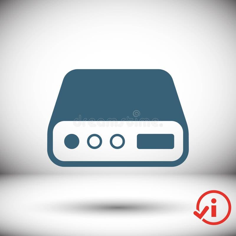 Conception plate d'illustration de vecteur d'actions d'icône d'unité de disque dur images stock