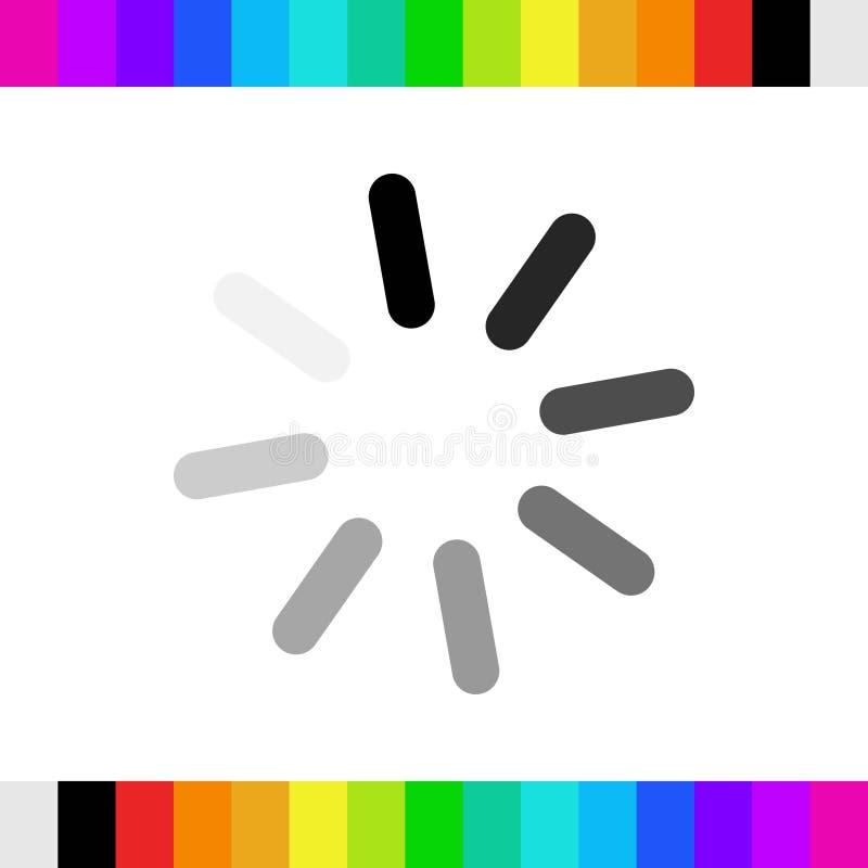 Conception plate d'illustration de vecteur d'actions d'icône de chargement photos libres de droits