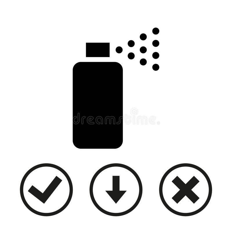 Conception plate d'illustration de vecteur d'actions d'icône de jet image stock