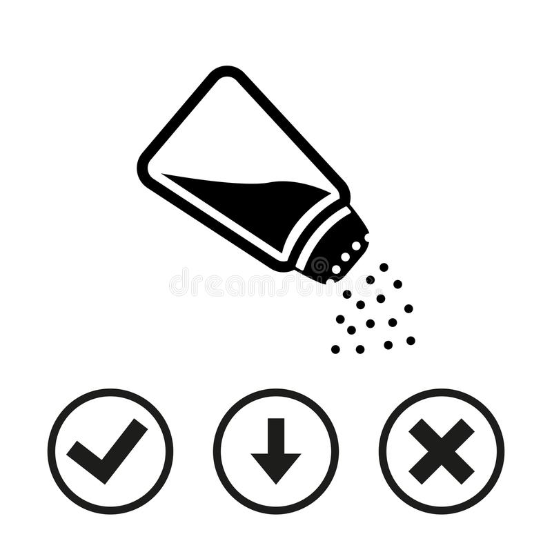 Conception plate d'illustration de vecteur d'actions d'icône de sel photo libre de droits