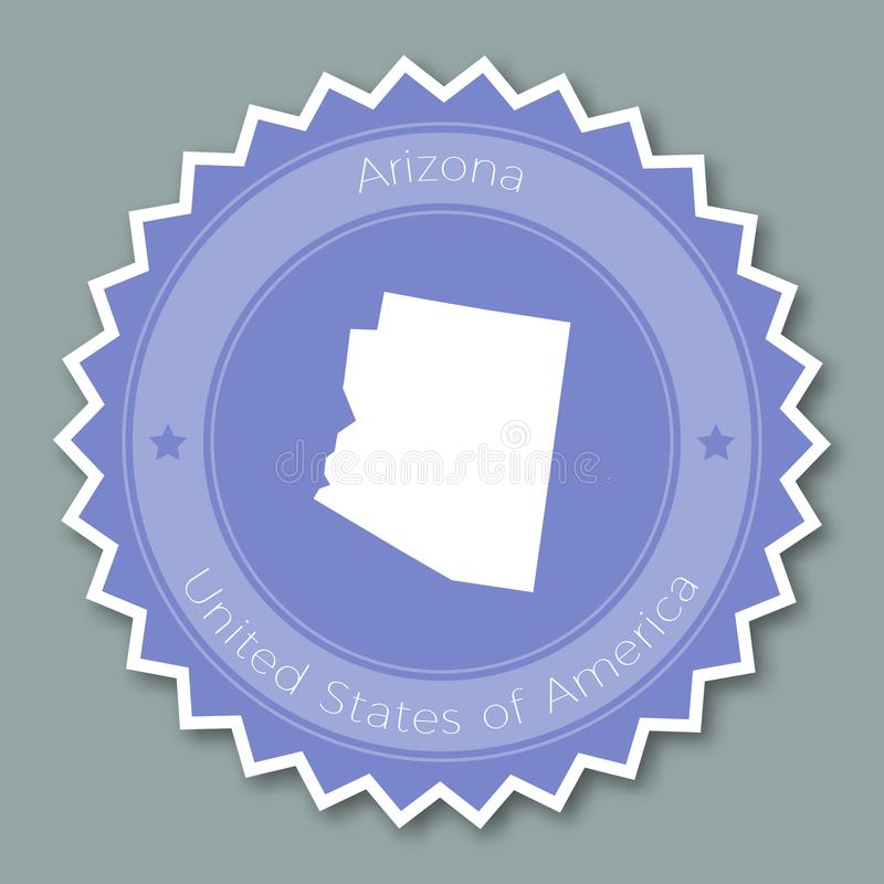 Conception plate d'insigne de l'Arizona illustration stock