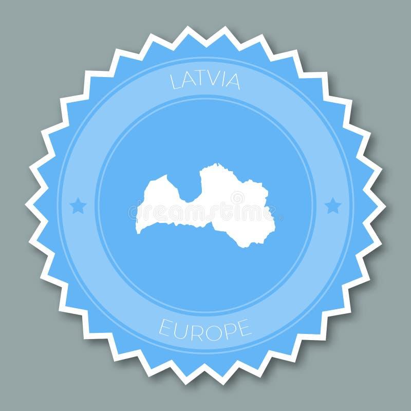 Conception plate d'insigne de la Lettonie illustration de vecteur