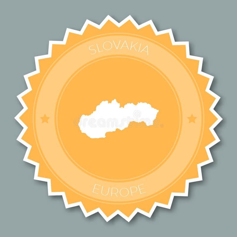 Conception plate d'insigne de la Slovaquie illustration libre de droits