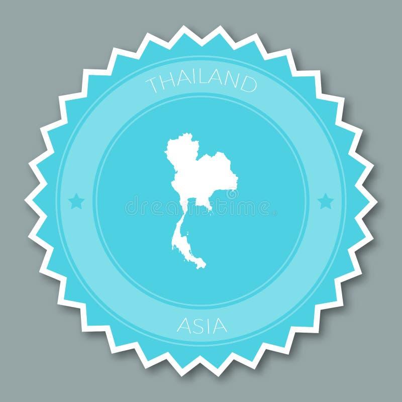 Conception plate d'insigne de la Thaïlande illustration libre de droits