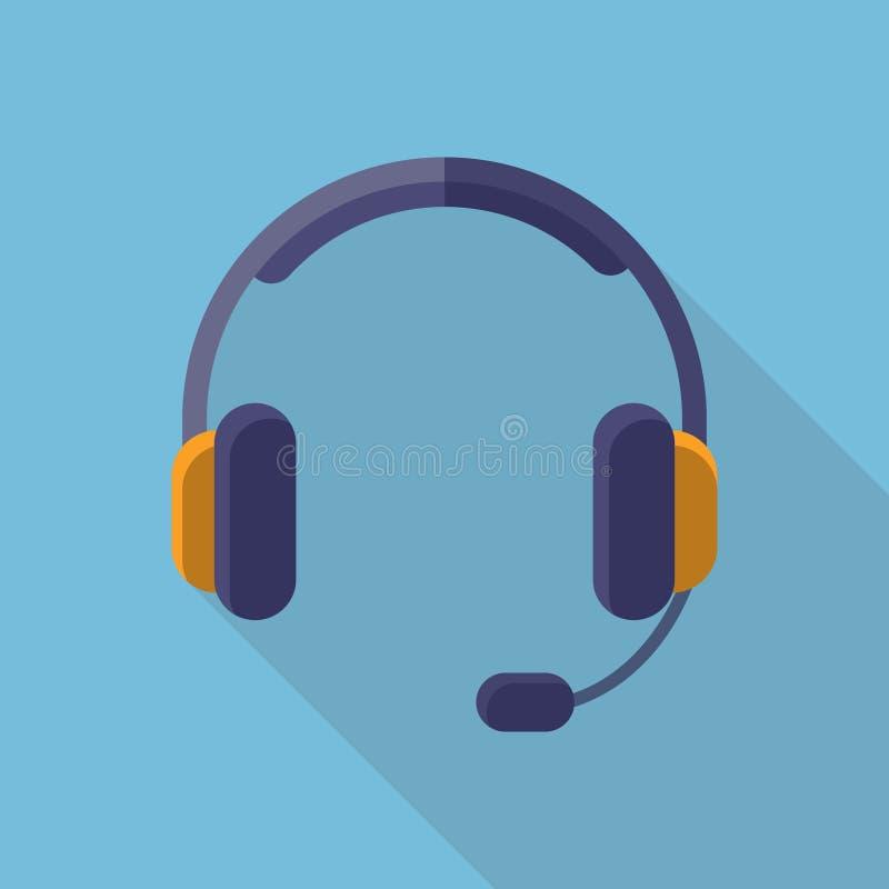 Conception plate de casque d'écouteurs image libre de droits