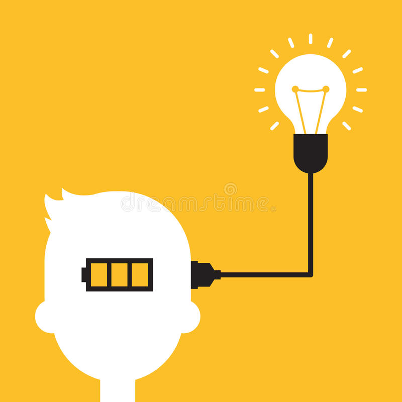 Conception plate de concept créatif d'idée illustration stock