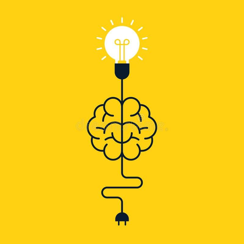 Conception plate de concept d'idée de pensée créative illustration libre de droits