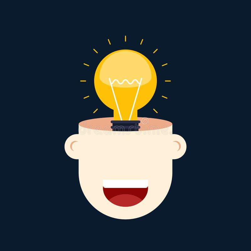 Conception plate de concept d'idée de pensée créative illustration stock