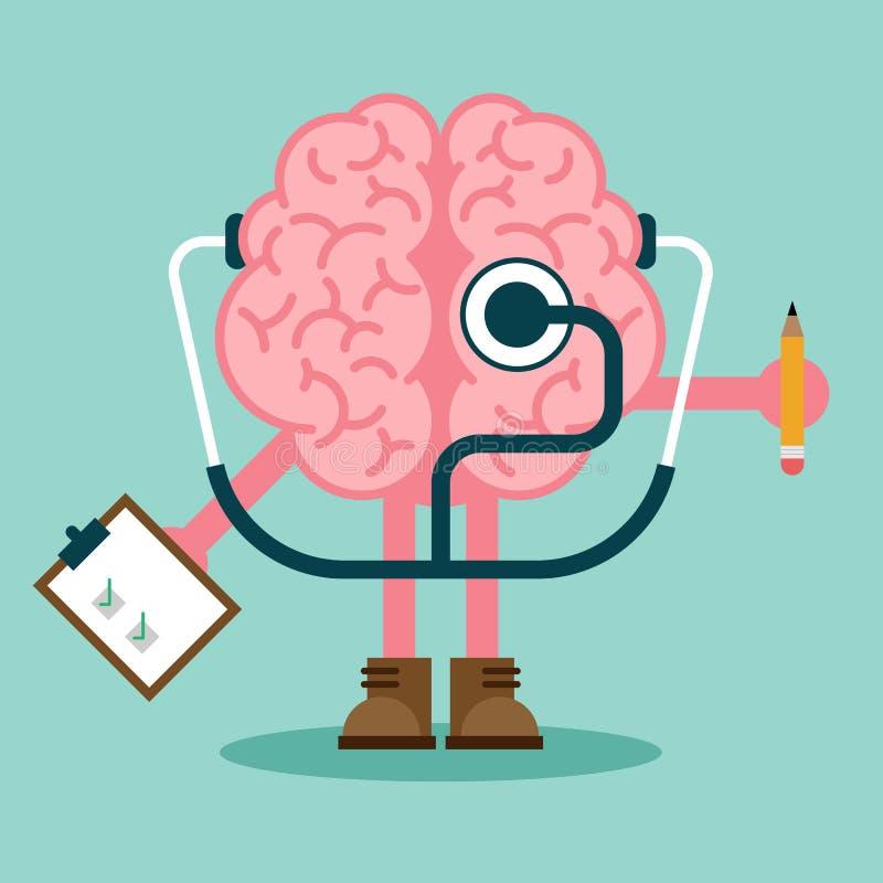 Conception plate de concept de santé mentale et de maladie mentale illustration libre de droits