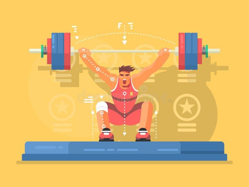 Conception plate de concours d'haltérophilie illustration stock