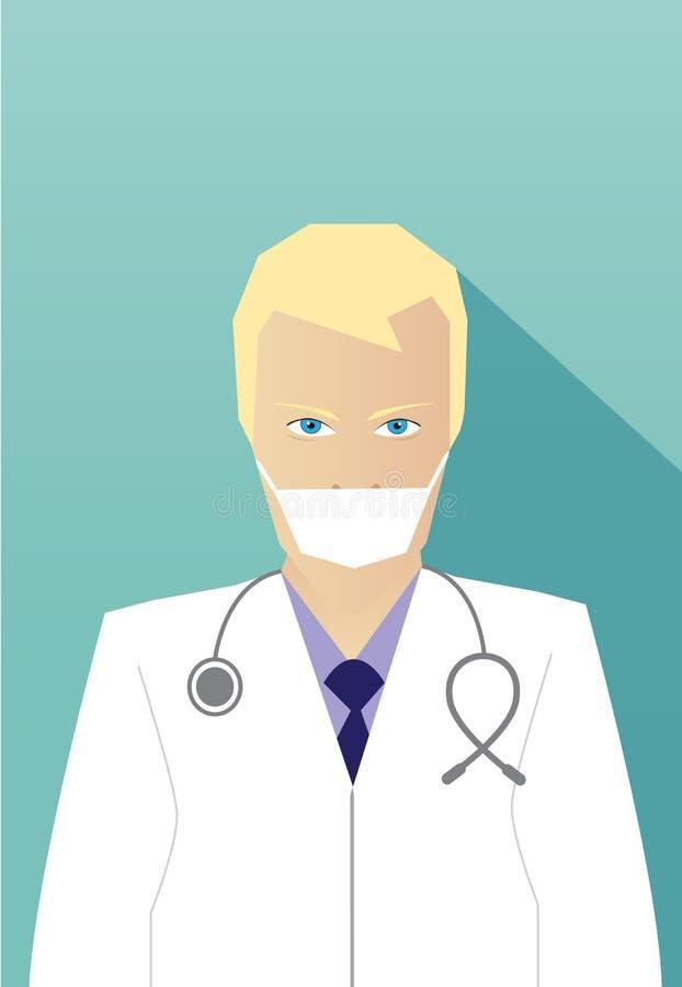 Conception plate de docteur d'icône professionnelle d'avatar illustration libre de droits