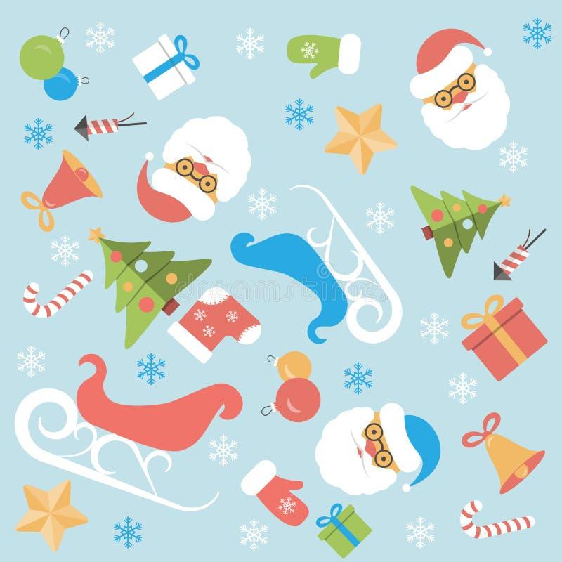 Download Conception Plate De Fond De Noël Illustration Stock - Illustration du écriture, snowflake: 45372082
