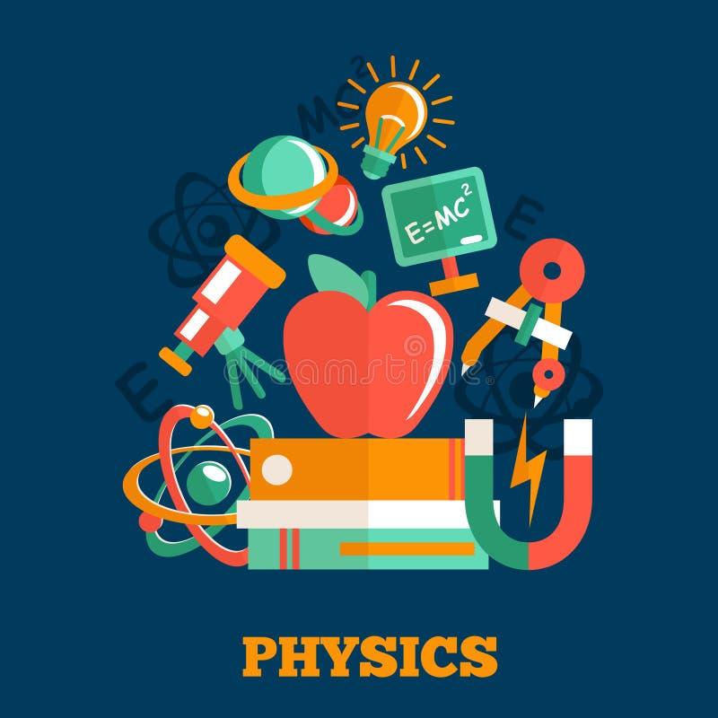 Conception plate de la science de physique illustration stock