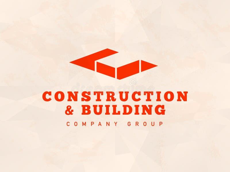 Conception plate de logo de bureau d'architecte de vecteur sur le fond clair illustration stock