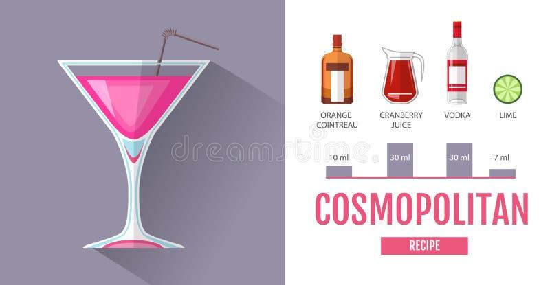 Conception Plate De Menu De Cocktail De Style Recette