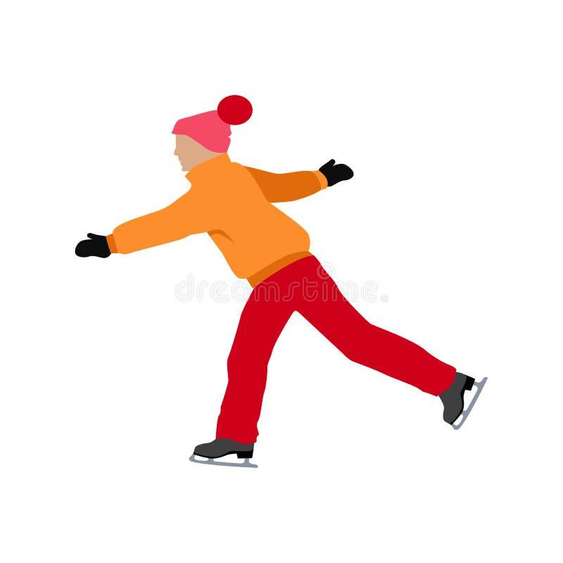 Conception plate de patinage de style de personnes illustration libre de droits