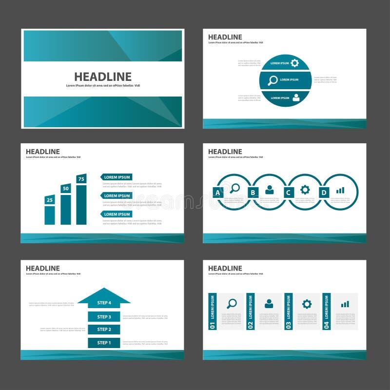 Conception plate de polygone de présentation de brochure d'insecte de tract de calibre infographic universel bleu de site Web illustration de vecteur
