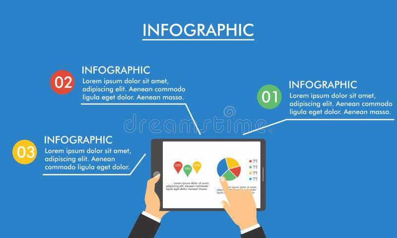 Conception plate et moderne infographic pour des affaires photos stock