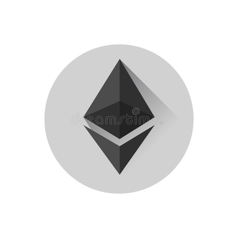 Conception plate Ethereum illustration de vecteur