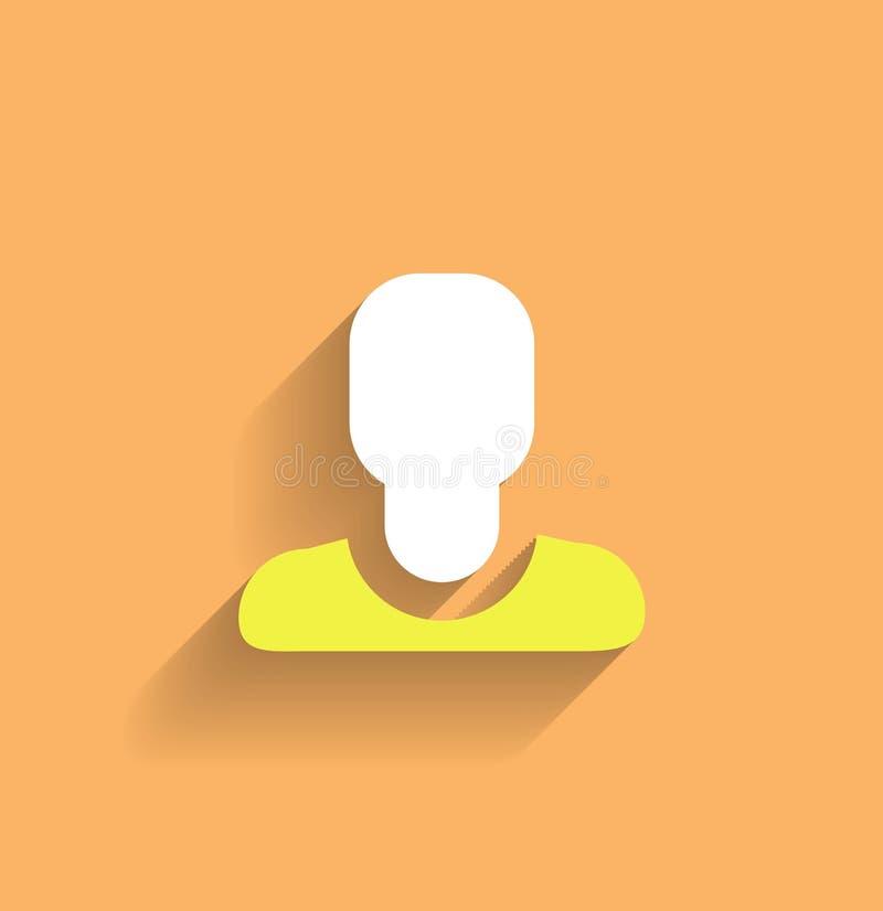 Conception plate moderne d'icône d'utilisateur de vecteur illustration stock