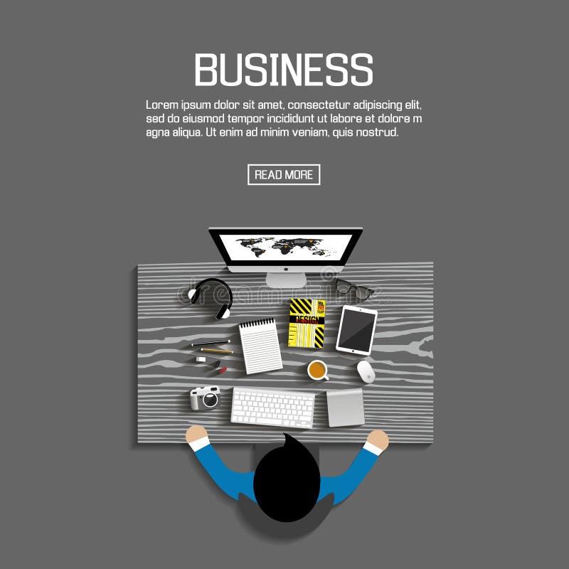 Conception plate pour des affaires Vecteur illustration stock