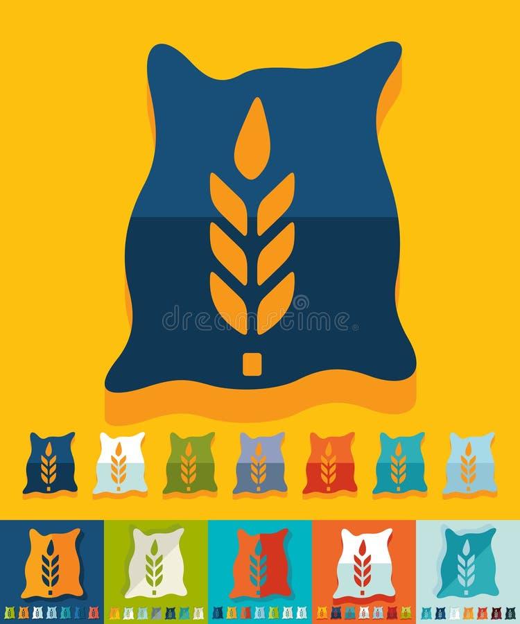 Conception plate sac de grain illustration libre de droits