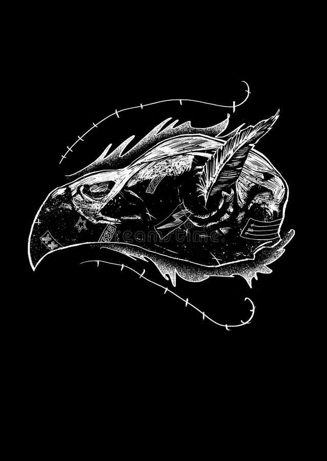 Conception principale Art Illustration d'oiseau illustration de vecteur