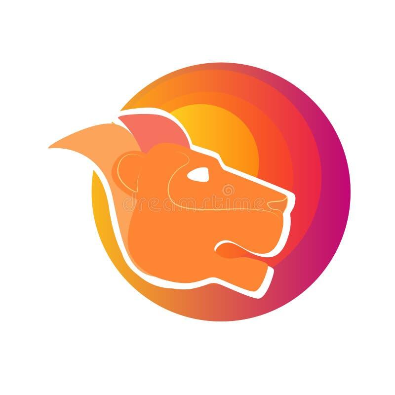 Conception principale de logo de vecteur de lion, logo abstrait de tigre Signe, logo fort illustration de vecteur