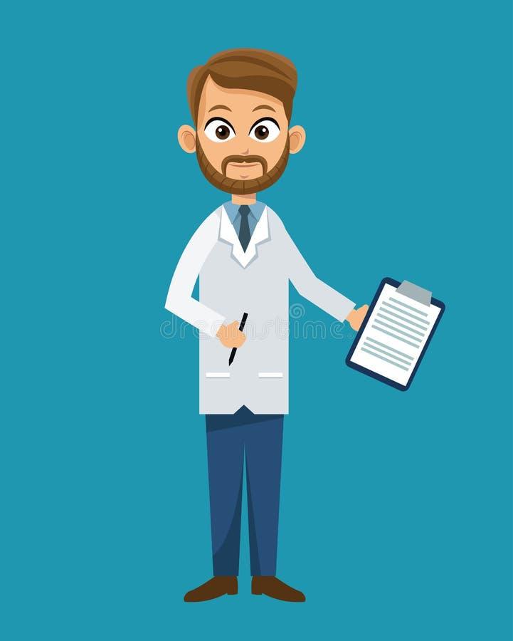 Conception professionnelle de soins de santé de docteur illustration de vecteur