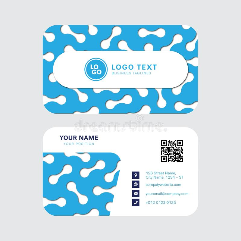 Conception professionnelle de vecteur de carte de visite professionnelle de visite, conception moderne de calibre de carte d'invi illustration de vecteur