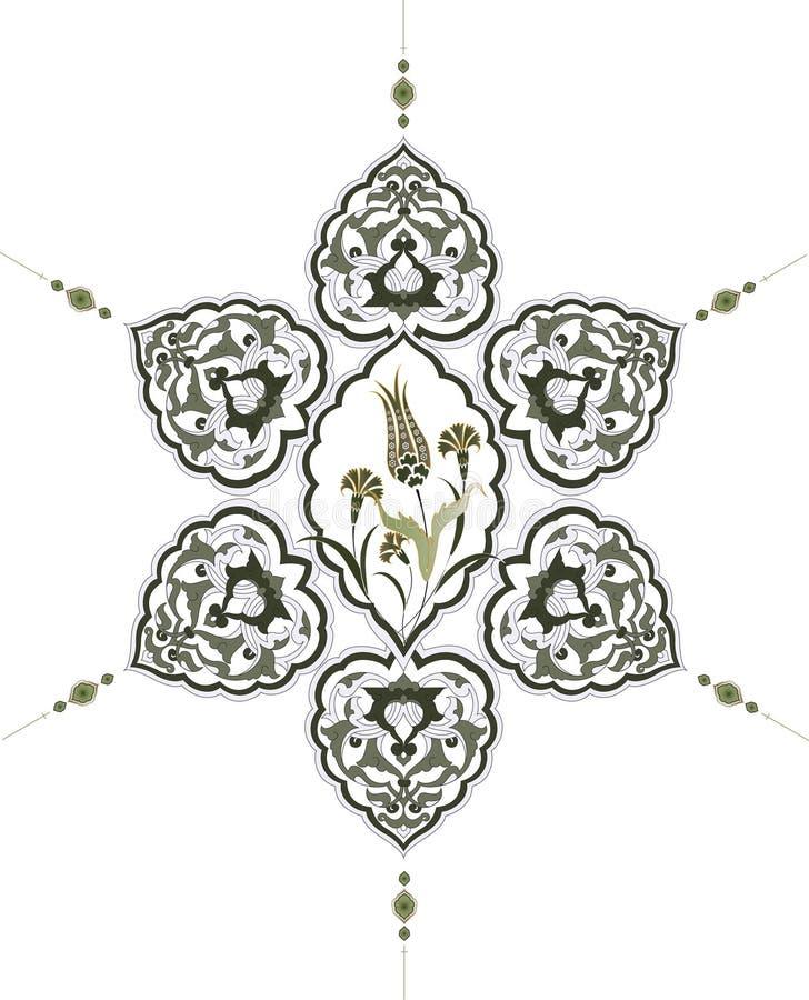 Conception propre de tabouret traditionnel illustration de vecteur