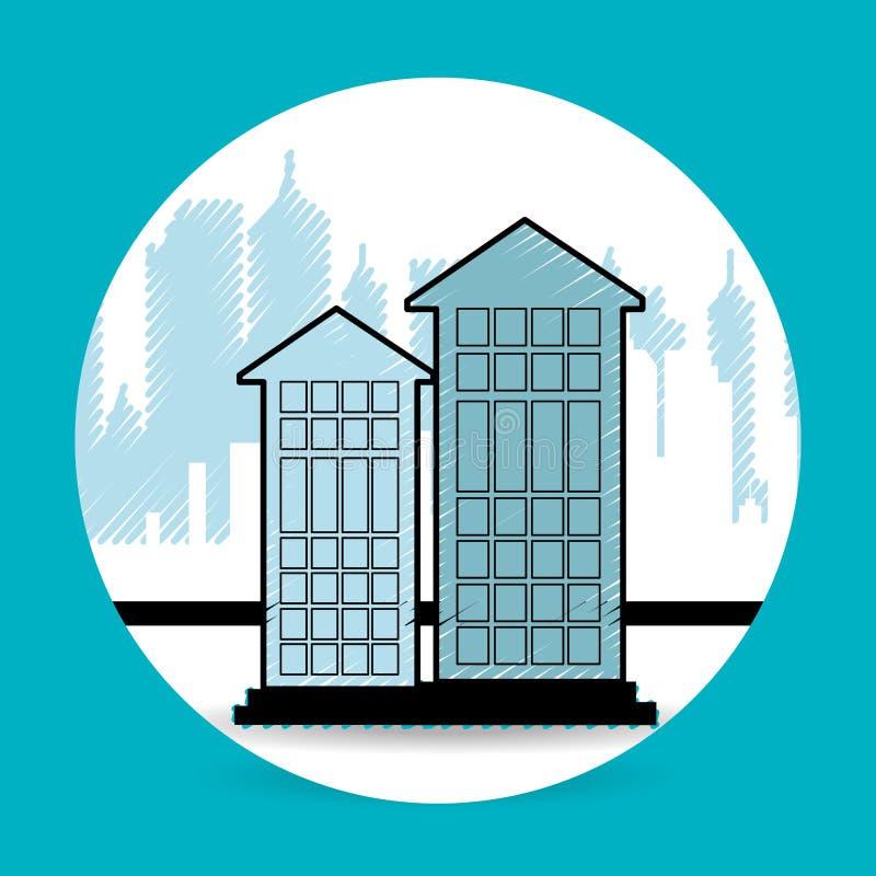 conception résidentielle d'icône illustration stock